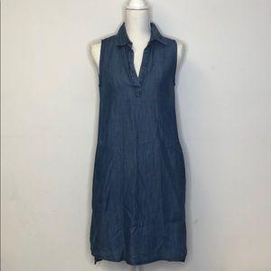 ALLEN B. By Allen Schwartz Denim Dress Small EUC